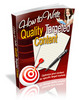 Thumbnail How to Write Quality Targeted Content (MRR)